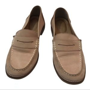 Sperry suede penny loafers, women, pink, Size 10